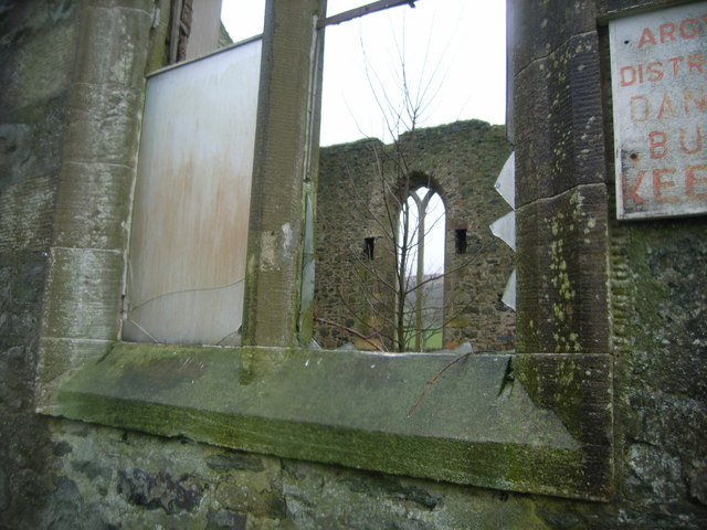 """Abandoned Church - view through broken window"" by Nicholas Mutton"