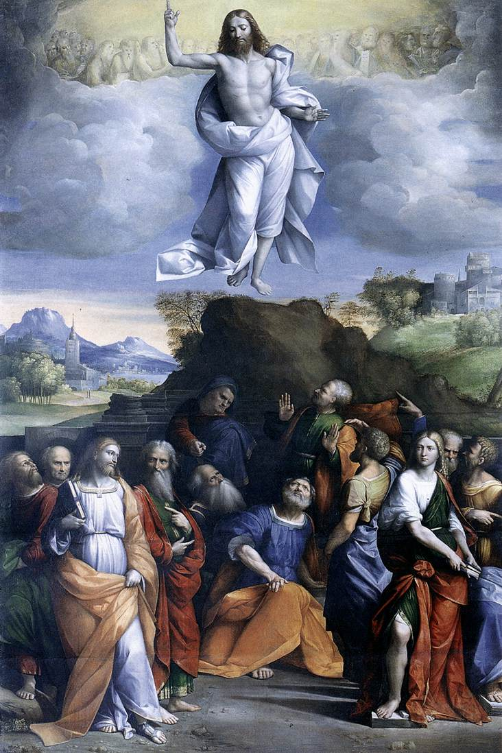 "English: ""Ascension of Christ"" by Benvenuto Tisi"