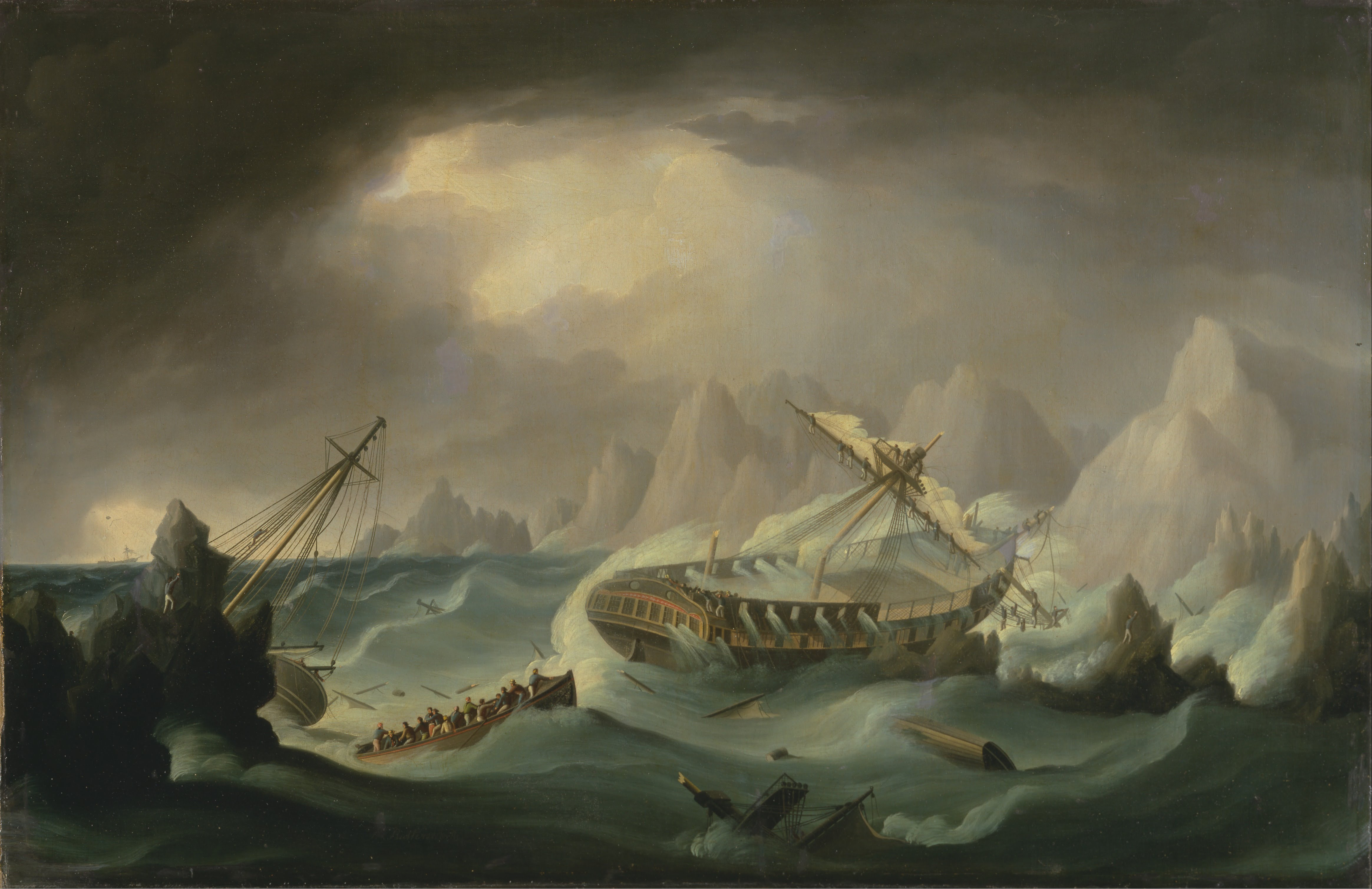 """Shipwreck off a Rocky Coast"" by Thomas Butterworth"
