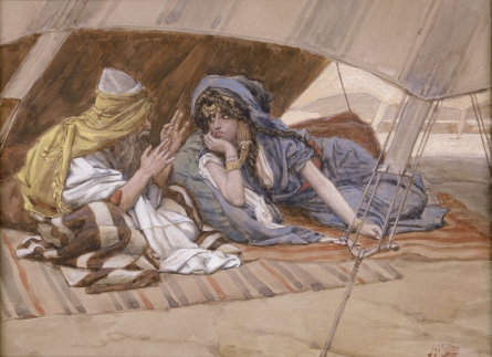 """Abram's Counsel to Sarai"" by James Jacque Joseph Tissot"
